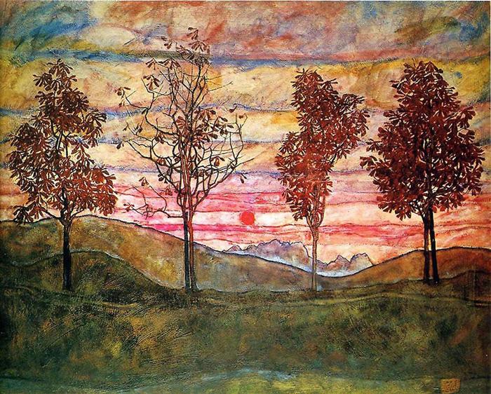 EGON SCHIELE: Négy fa (1917)